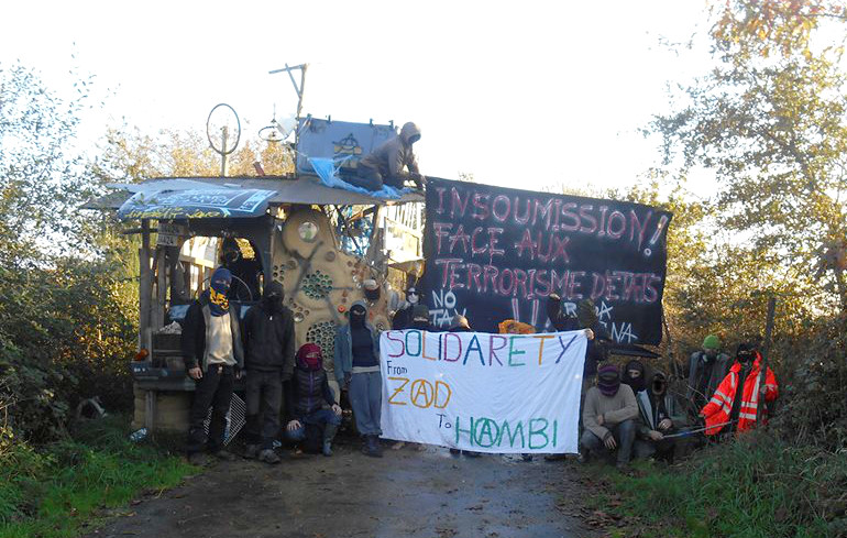 Barricade in the ZAD